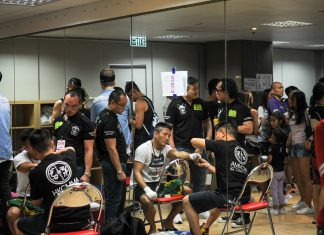 Backstage of Mixed Martial Arts Competition IMPI World Series Asia 6